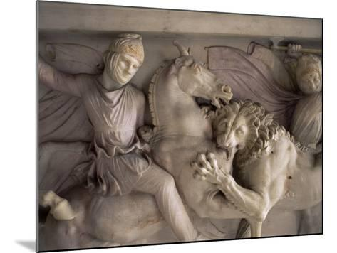 Detail of the Marble Sarcophagus of Alexander the Great, Topkapi, Istanbul, Turkey-Adam Woolfitt-Mounted Photographic Print