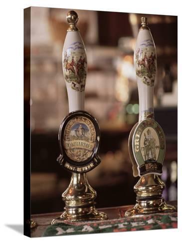 Beer Pumps, Sun Pub, London, England, United Kingdom-Adam Woolfitt-Stretched Canvas Print