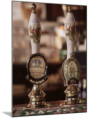 Beer Pumps, Sun Pub, London, England, United Kingdom-Adam Woolfitt-Mounted Photographic Print