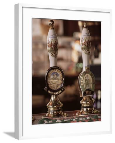Beer Pumps, Sun Pub, London, England, United Kingdom-Adam Woolfitt-Framed Art Print