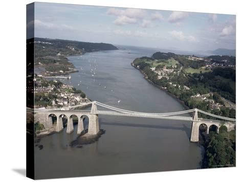 Menai Bridge, Wales, United Kingdom-Adam Woolfitt-Stretched Canvas Print