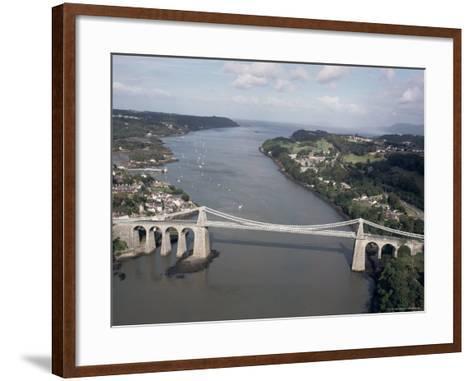 Menai Bridge, Wales, United Kingdom-Adam Woolfitt-Framed Art Print