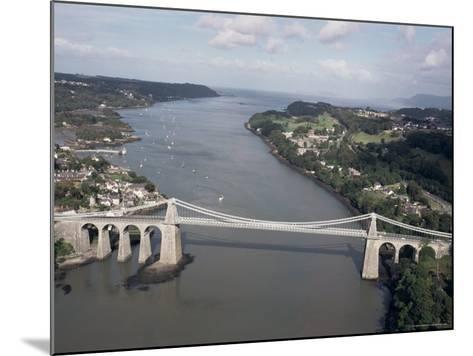 Menai Bridge, Wales, United Kingdom-Adam Woolfitt-Mounted Photographic Print
