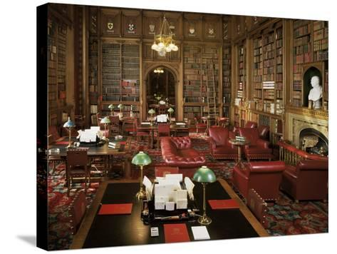 The Lords Library, Houses of Parliament, Westminster, London, England, United Kingdom-Adam Woolfitt-Stretched Canvas Print