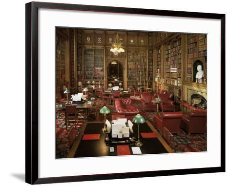 The Lords Library, Houses of Parliament, Westminster, London, England, United Kingdom-Adam Woolfitt-Framed Art Print
