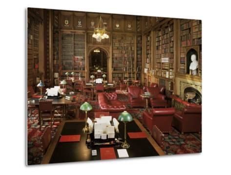 The Lords Library, Houses of Parliament, Westminster, London, England, United Kingdom-Adam Woolfitt-Metal Print