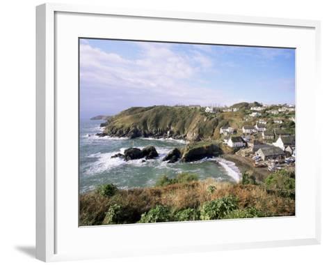 Cadgwith Harbour and Village, Cornwall, England, United Kingdom-Adam Woolfitt-Framed Art Print