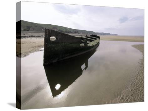 Omaha Beach, Basse Normandie (Normandy), France-Adam Woolfitt-Stretched Canvas Print