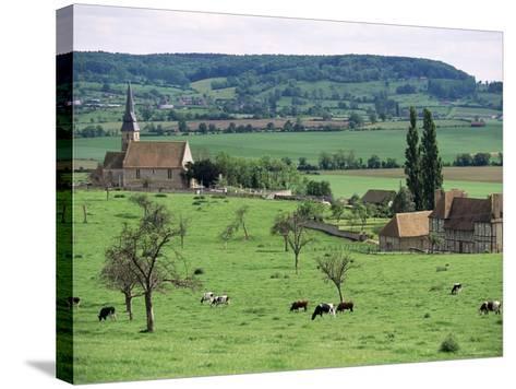 Farms Near Vieux-Pont-En-Ange, Near Boissey, Basse Normandie (Normandy), France-Adam Woolfitt-Stretched Canvas Print