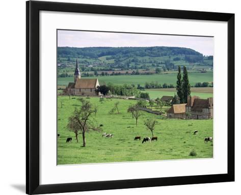 Farms Near Vieux-Pont-En-Ange, Near Boissey, Basse Normandie (Normandy), France-Adam Woolfitt-Framed Art Print