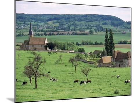 Farms Near Vieux-Pont-En-Ange, Near Boissey, Basse Normandie (Normandy), France-Adam Woolfitt-Mounted Photographic Print