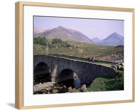 Walkers at Sligachan, Heart of the Isle of Skye, Highland Region, Scotland, United Kingdom-Adam Woolfitt-Framed Art Print
