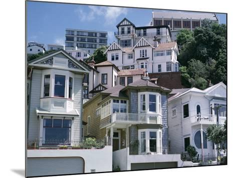Houses, Wellington, North Island, New Zealand-Adam Woolfitt-Mounted Photographic Print