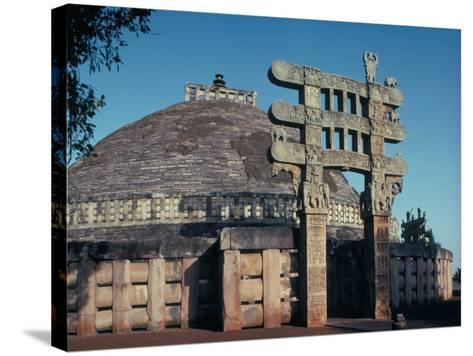 The East Gateway, Great Stupa, Sanchi, Unesco World Heritage Site, Bhopal, India-Adam Woolfitt-Stretched Canvas Print