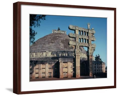 The East Gateway, Great Stupa, Sanchi, Unesco World Heritage Site, Bhopal, India-Adam Woolfitt-Framed Art Print