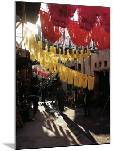 Dyed Wool, Dyers Souk, Marrakesh, Morocco, North Africa, Africa-Adam Woolfitt-Mounted Photographic Print