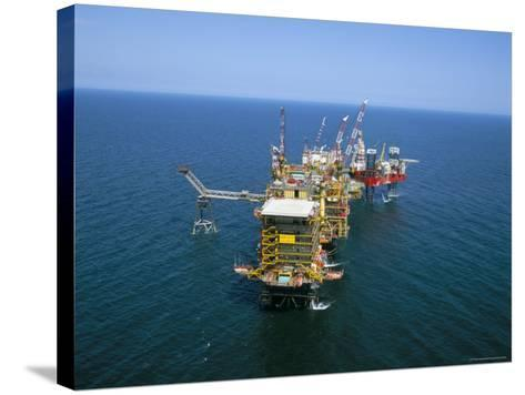 Morecombe Bay Gas Field, England, United Kingdom-Nick Wood-Stretched Canvas Print
