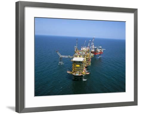 Morecombe Bay Gas Field, England, United Kingdom-Nick Wood-Framed Art Print