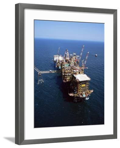 Platform and Drill Rig, Morecambe Bay Gas Field, Lancashire, England, United Kingdom-Nick Wood-Framed Art Print