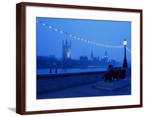 Houses and Parliament from Across the Thames, London, England, United Kingdom-Nick Wood-Framed Art Print