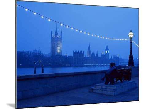 Houses and Parliament from Across the Thames, London, England, United Kingdom-Nick Wood-Mounted Photographic Print