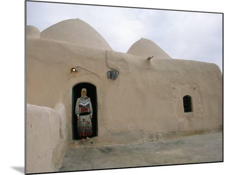 Woman in Doorway of a 200 Year Old Beehive House in the Desert, Ebla Area, Syria, Middle East-Alison Wright-Mounted Photographic Print