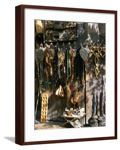 Bellows and Coffee Grinders for Sale at Souq Al-Hamidiyya, Damascus, Syria-Alison Wright-Framed Art Print
