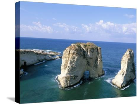 Rock Arches, Beirut, Lebanon, Mediterranean Sea, Middle East-Alison Wright-Stretched Canvas Print