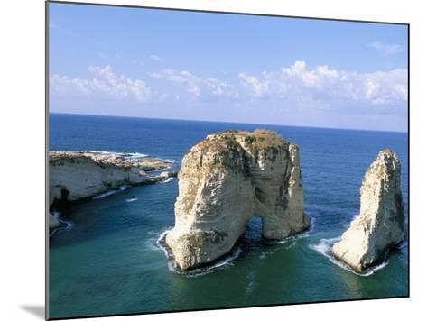 Rock Arches, Beirut, Lebanon, Mediterranean Sea, Middle East-Alison Wright-Mounted Photographic Print