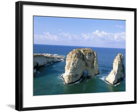 Rock Arches, Beirut, Lebanon, Mediterranean Sea, Middle East-Alison Wright-Framed Art Print