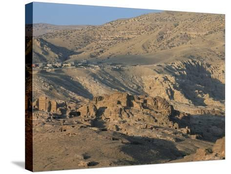 View Over Nabatean Tombs, Petra, Unesco World Heritage Site, Jordan, Middle East-Alison Wright-Stretched Canvas Print