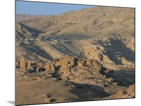 View Over Nabatean Tombs, Petra, Unesco World Heritage Site, Jordan, Middle East-Alison Wright-Mounted Photographic Print