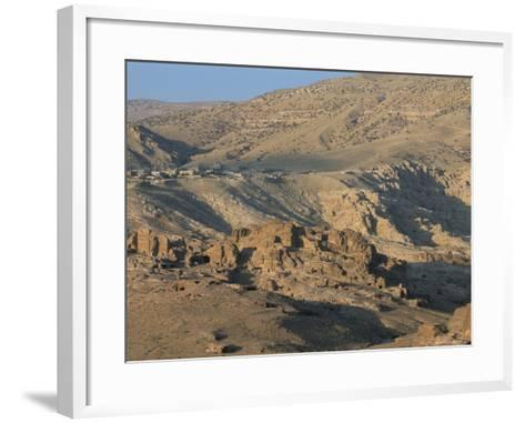 View Over Nabatean Tombs, Petra, Unesco World Heritage Site, Jordan, Middle East-Alison Wright-Framed Art Print