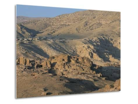 View Over Nabatean Tombs, Petra, Unesco World Heritage Site, Jordan, Middle East-Alison Wright-Metal Print