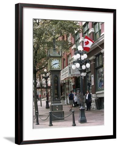 Steam Clock in Gastown, Vancouver, British Columbia, Canada-Alison Wright-Framed Art Print