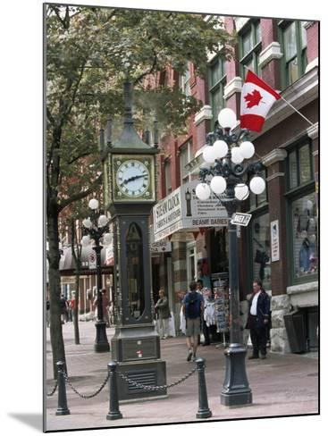 Steam Clock in Gastown, Vancouver, British Columbia, Canada-Alison Wright-Mounted Photographic Print