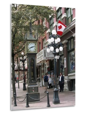 Steam Clock in Gastown, Vancouver, British Columbia, Canada-Alison Wright-Metal Print