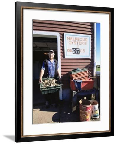 Dale Marchland Selling Malpeque Oysters, Malpeque, Prince Edward Island, Canada-Alison Wright-Framed Art Print