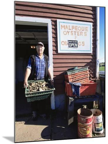 Dale Marchland Selling Malpeque Oysters, Malpeque, Prince Edward Island, Canada-Alison Wright-Mounted Photographic Print