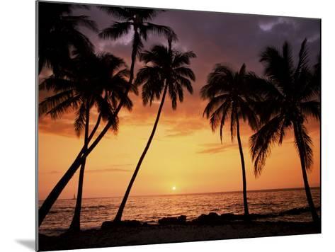 Sunset, Kohala Coast, Island of Hawaii, Hawaiian Islands, USA--Mounted Photographic Print