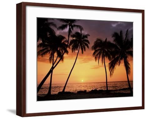 Sunset, Kohala Coast, Island of Hawaii, Hawaiian Islands, USA--Framed Art Print