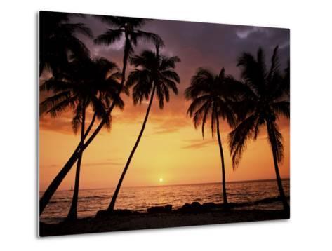 Sunset, Kohala Coast, Island of Hawaii, Hawaiian Islands, USA--Metal Print