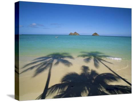 Lanikai Beach, Oahu, Hawaii, Hawaiian Islands, USA--Stretched Canvas Print
