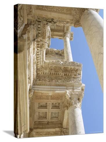 Reconstructed Library of Celsus, Archaeological Site, Ephesus, Anatolia, Turkey-R H Productions-Stretched Canvas Print