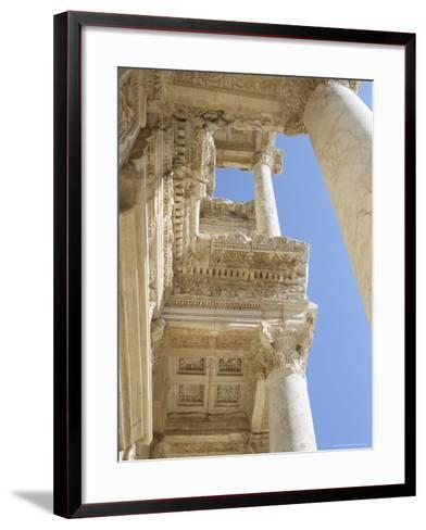 Reconstructed Library of Celsus, Archaeological Site, Ephesus, Anatolia, Turkey-R H Productions-Framed Art Print