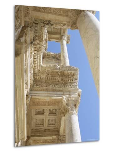Reconstructed Library of Celsus, Archaeological Site, Ephesus, Anatolia, Turkey-R H Productions-Metal Print