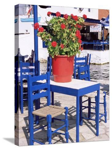 Chairs and Table, Agia Kyriaki, Pelion, Greece-R H Productions-Stretched Canvas Print