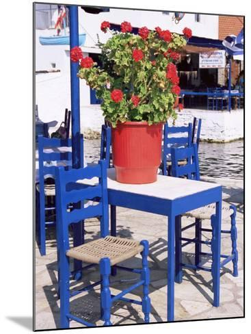 Chairs and Table, Agia Kyriaki, Pelion, Greece-R H Productions-Mounted Photographic Print