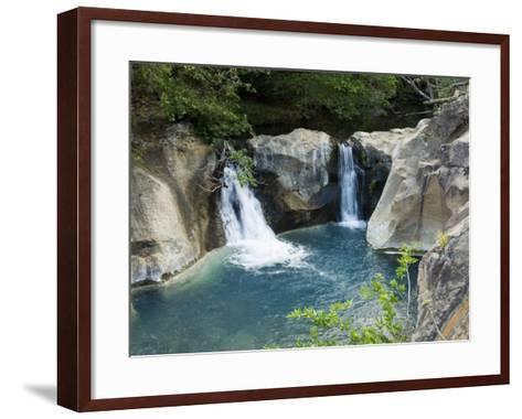 Waterfall on the Colorado River, Near Rincon De La Vieja National Park, Costa Rica-R H Productions-Framed Art Print