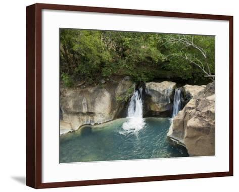 Waterfall on the Colorado River, Near Rincon De La Vieja National Park, Costa Rica-R H Productions-Framed Art Print